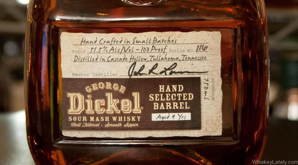 Dickel Hand Selected Barrel 9 Bottle